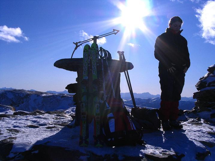 Foto: Andreas Koller / Ski Tour / Vom Falkertsee auf den Falkert (2308m) / Panoramatisch auf der Falkertspitze / 24.11.2008 23:00:06