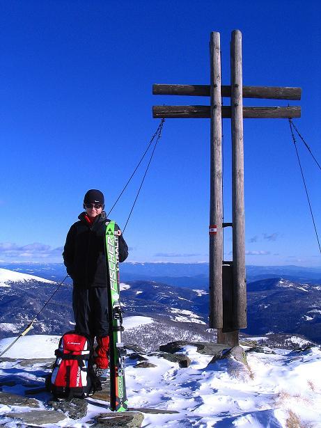 Foto: Andreas Koller / Ski Tour / Vom Falkertsee auf den Falkert (2308m) / Falkert Gipfelkreuz / 24.11.2008 22:59:37