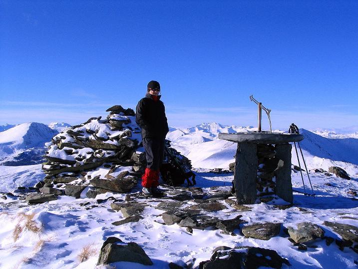 Foto: Andreas Koller / Ski Tour / Vom Falkertsee auf den Falkert (2308m) / Geräumiger Falkert-Gipfel / 24.11.2008 22:57:41