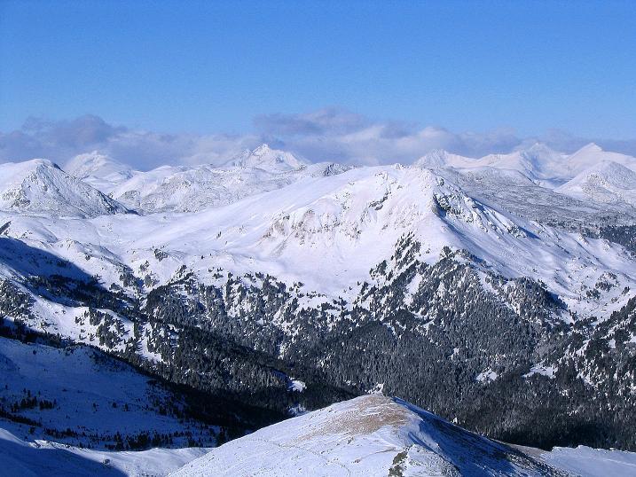 Foto: Andreas Koller / Ski Tour / Vom Falkertsee auf den Falkert (2308m) / Blick nach N ins Herz des Nationalparks Nockberge und in die Niederen Tauern / 24.11.2008 22:55:20