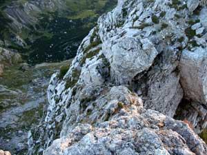Foto: Datzi / Wander Tour / Rundtour von der Winterhöh ( Wildalpen) mit Anstieg zur Schaufelwand und Brandstein ( Biwak ) u.Abstieg über dem Teufelssee / Blick von Schaufelwandgipfel zum Anstieg / 06.12.2008 15:07:18