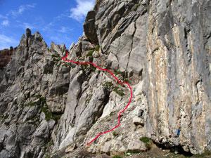 Foto: Datzi / Wander Tour / Rundtour im Gr. Walsertal auf die Rote Wand ( Biwak ) / Gesichertes Teilstück beim Einstieg zur Roten Wand / 06.12.2008 18:37:34