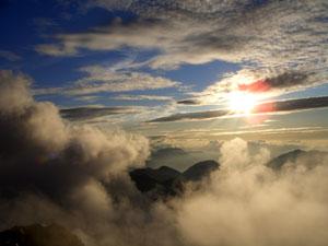 Foto: Datzi / Wander Tour / Rundtour im Gr. Walsertal auf die Rote Wand ( Biwak ) / Ankunft am Gipfel teilweise ist der Gipfel noch in den Wolken / 06.12.2008 18:38:15
