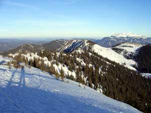 Foto: Datzi / Schneeschuh Tour / Rundtour Göller (Biwak) - Gippel - Schwarzauer Gippel / Hier sieht man sehr schön die Überschreitung die ich noch vor mir habe / 07.12.2008 09:07:35
