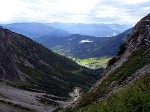 Foto: Datzi / Wander Tour / Rundtour am Steineren Meer über den Hochseiler ( Biwak ) - Brandhorn und Selphorn / Der Blick zurück ins Hinterthal / 07.12.2008 18:37:13