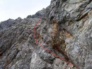 Foto: Datzi / Wander Tour / Rundtour am Steineren Meer über den Hochseiler ( Biwak ) - Brandhorn und Selphorn / Ausgesetzte Stellen beim Aufstieg in denTeufelslöchern / 07.12.2008 18:37:35
