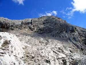 Foto: Datzi / Wander Tour / Rundtour am Steineren Meer über den Hochseiler ( Biwak ) - Brandhorn und Selphorn / Blick von der Luegscharte zum Anstieg vom Selphorn / 07.12.2008 18:39:48