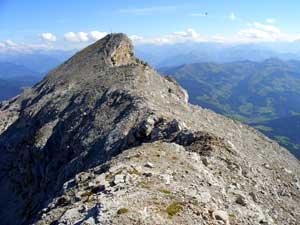Foto: Datzi / Wander Tour / Rundtour am Steineren Meer über den Hochseiler ( Biwak ) - Brandhorn und Selphorn / Blick zum Selphorn kurz vor der Kletterstelle / 07.12.2008 18:39:57
