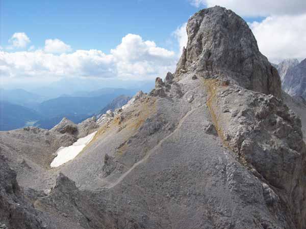 Foto: Datzi / Klettersteig Tour / Rundtour 2. Tage über die Hohe Gamsfeldspitze zur Scheichenspitze ( Biwak ) / Der Übergang zum Schmiedestock / 08.12.2008 08:23:27