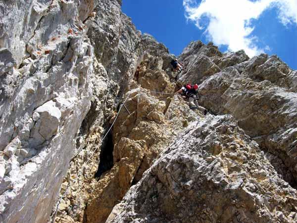 Foto: Datzi / Klettersteig Tour / Rundtour 2. Tage über die Hohe Gamsfeldspitze zur Scheichenspitze ( Biwak ) / Kein Steig für schwache Nerven / 08.12.2008 08:23:53