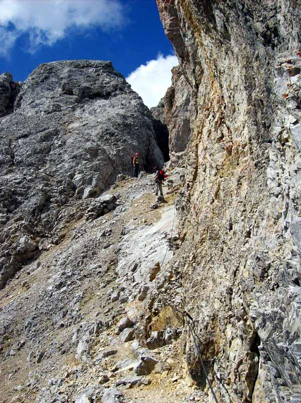 Foto: Datzi / Klettersteig Tour / Rundtour 2. Tage über die Hohe Gamsfeldspitze zur Scheichenspitze ( Biwak ) / Der Südliche Umgehung des Schmiedestocks / 08.12.2008 08:24:15