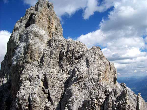 Foto: Datzi / Klettersteig Tour / Rundtour 2. Tage über die Hohe Gamsfeldspitze zur Scheichenspitze ( Biwak ) / Immer auf luftigen Höhen unterwegs / 08.12.2008 08:24:23