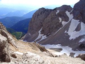 Foto: Datzi / Klettersteig Tour / Rundtour 2. Tage über die Hohe Gamsfeldspitze zur Scheichenspitze ( Biwak ) / Der Blick zurück nach Ramsau (Edelgrieß) / 07.12.2008 21:00:07