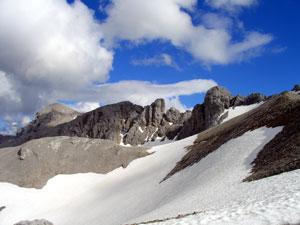 Foto: Datzi / Klettersteig Tour / Rundtour 2. Tage über die Hohe Gamsfeldspitze zur Scheichenspitze ( Biwak ) / Ein schöner blick zur Scheichenspitze u. Klettersteig von der Edelgrießhöhe / 07.12.2008 21:00:17