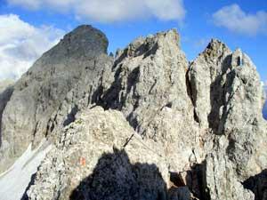 Foto: Datzi / Klettersteig Tour / Rundtour 2. Tage über die Hohe Gamsfeldspitze zur Scheichenspitze ( Biwak ) / Der Klettersteig ,ein ständiges auf und ab / 07.12.2008 21:00:37