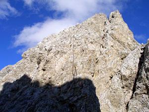Foto: Datzi / Klettersteig Tour / Rundtour 2. Tage über die Hohe Gamsfeldspitze zur Scheichenspitze ( Biwak ) / Aufstieg zur Hohen Gamsfeldspitze / 07.12.2008 21:00:42