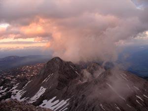 Foto: Datzi / Klettersteig Tour / Rundtour 2. Tage über die Hohe Gamsfeldspitze zur Scheichenspitze ( Biwak ) / Sonnenuntergang auf der Scheichenspitze / 08.12.2008 08:28:51
