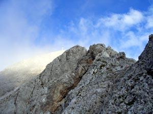 Foto: Datzi / Klettersteig Tour / Rundtour 2. Tage über die Hohe Gamsfeldspitze zur Scheichenspitze ( Biwak ) / Die Hohe Rams / 08.12.2008 08:30:25