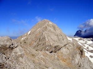 Foto: Datzi / Klettersteig Tour / Rundtour 2. Tage über die Hohe Gamsfeldspitze zur Scheichenspitze ( Biwak ) / Blick zurück von der Hohen Rams zur Scheichenspitze / 08.12.2008 08:30:31