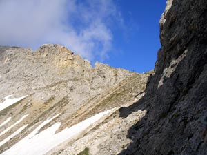 Foto: Datzi / Klettersteig Tour / Rundtour 2. Tage über die Hohe Gamsfeldspitze zur Scheichenspitze ( Biwak ) / Die Hohe Rams und Gruberscharte / 08.12.2008 08:30:38