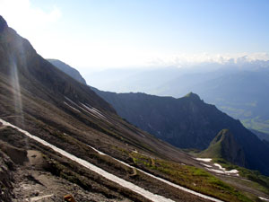 Foto: Datzi / Klettersteig Tour / Rundtour 2. Tage über die Hohe Gamsfeldspitze zur Scheichenspitze ( Biwak ) / Abstieg von der Gruberscharte zum Guttenberger Haus / 08.12.2008 08:30:42