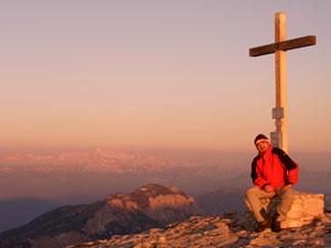 Foto: Datzi / Wander Tour / Rundtour über das Gr. Tragl ( Biwak ) und Hochkasten / Sonnenaufgang am Gr. Tragl / 08.12.2008 12:30:50