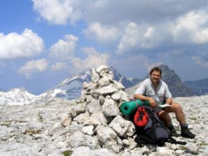 Foto: Datzi / Wander Tour / Rundtour über das Gr. Tragl ( Biwak ) und Hochkasten / Der Gipfel Hochkasten / 08.12.2008 12:31:24