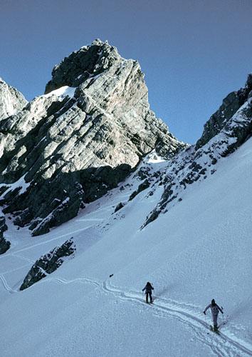 Foto: Kurt Schall / Ski Tour / Arzler Scharte 2158 m / 11.12.2008 13:05:37
