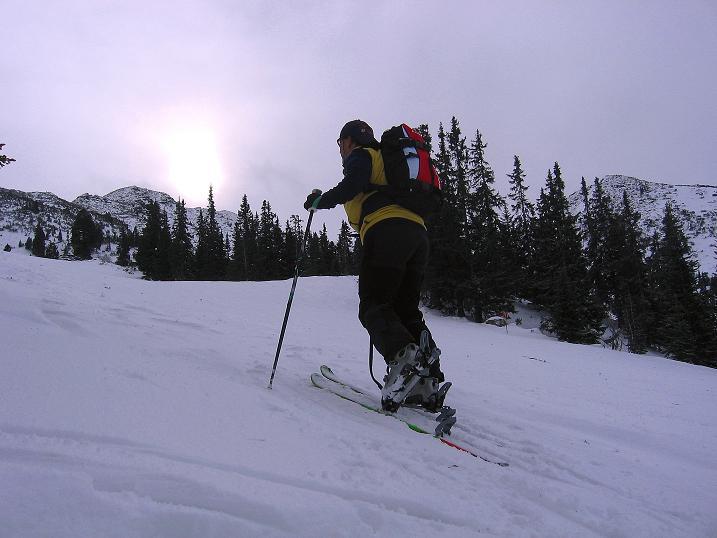 Foto: Andreas Koller / Ski Tour / Vom Plannerkessel in den Gullinggraben (2054m) / Aufstieg zum Großen Rotbühel / 15.12.2008 01:43:47
