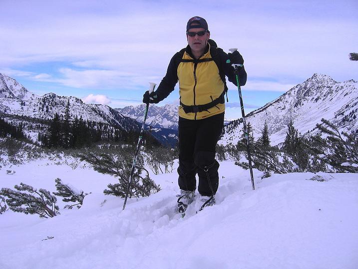 Foto: Andreas Koller / Ski Tour / Vom Plannerkessel in den Gullinggraben (2054m) / Aufstieg durch einen Latschengürtel / 15.12.2008 01:43:06