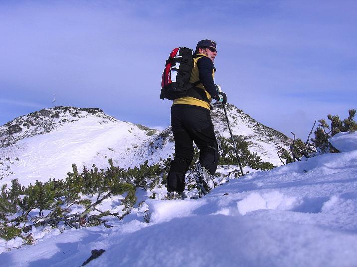 Foto: Andreas Koller / Ski Tour / Vom Plannerkessel in den Gullinggraben (2054m) / Im Aufstieg zum Großen Rotbühel / 15.12.2008 01:41:14