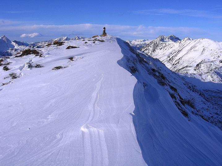 Foto: Andreas Koller / Ski Tour / Vom Plannerkessel in den Gullinggraben (2054m) / Das letzte Stück vom Vorgipfel zum Hauptgipfel / 15.12.2008 01:33:22