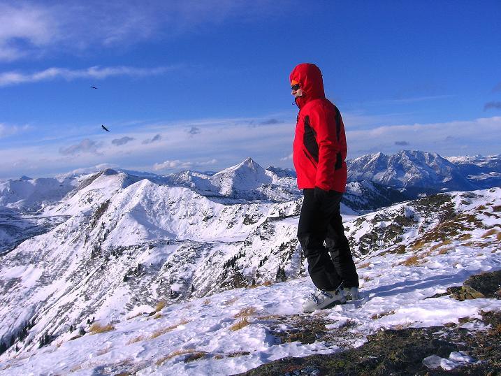 Foto: Andreas Koller / Ski Tour / Vom Plannerkessel in den Gullinggraben (2054m) / Auf der Hintergullingspitze / 15.12.2008 01:30:55