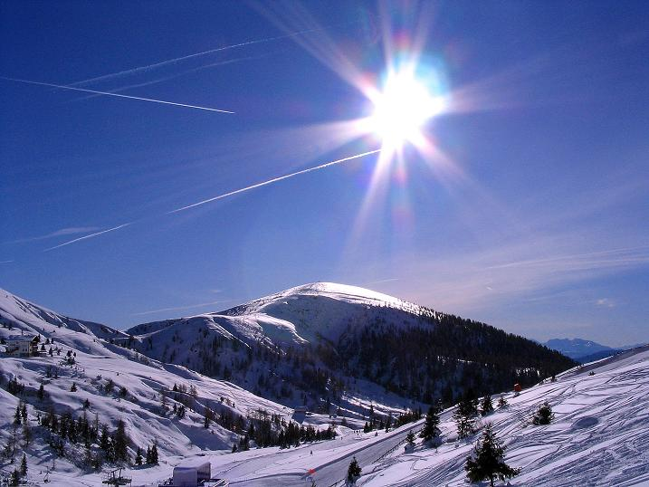 Foto: Andreas Koller / Ski Tour / Anfängertour auf den Spieler (2080m) / Die breite Kuppe des Spieler / 15.12.2008 02:22:06