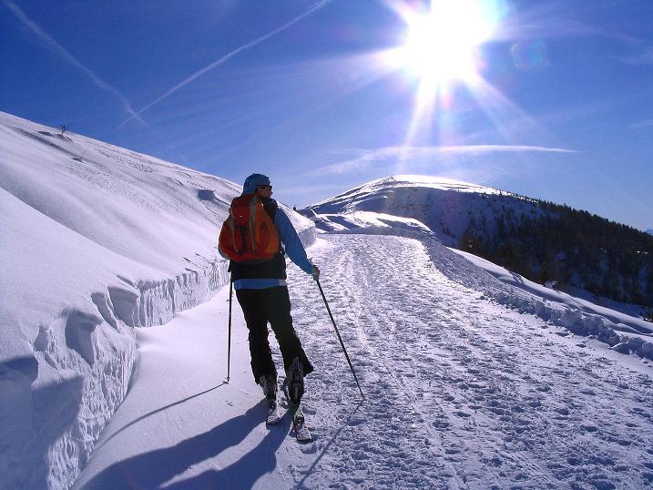 Foto: Andreas Koller / Ski Tour / Anfängertour auf den Spieler (2080m) / Leichter Anstieg zum Spieler / 15.12.2008 02:21:50
