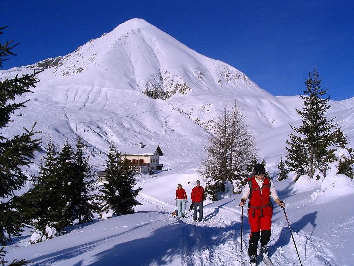 Foto: Andreas Koller / Ski Tour / Anfängertour auf den Spieler (2080m) / Meraner Hütte und Plattinger (2615 m) / 15.12.2008 02:21:01