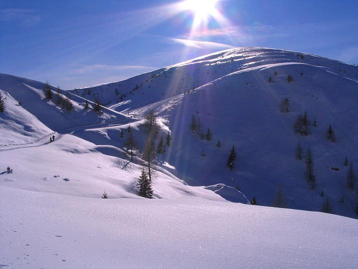 Foto: Andreas Koller / Ski Tour / Anfängertour auf den Spieler (2080m) / Leichter Skiberg: Spieler / 15.12.2008 02:20:35