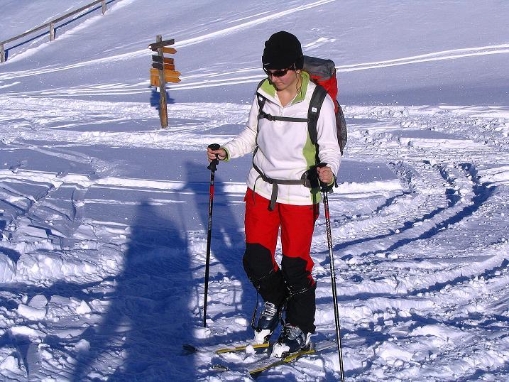 Foto: Andreas Koller / Ski Tour / Anfängertour auf den Spieler (2080m) / Im Sattel / 15.12.2008 02:19:48