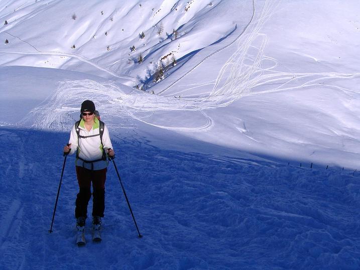 Foto: Andreas Koller / Ski Tour / Anfängertour auf den Spieler (2080m) / Aufstieg aus dem Sattel  / 15.12.2008 02:18:13