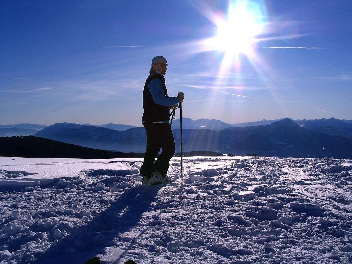 Foto: Andreas Koller / Ski Tour / Anfängertour auf den Spieler (2080m) / Sonniger Spieler-Gipfel / 15.12.2008 02:16:56