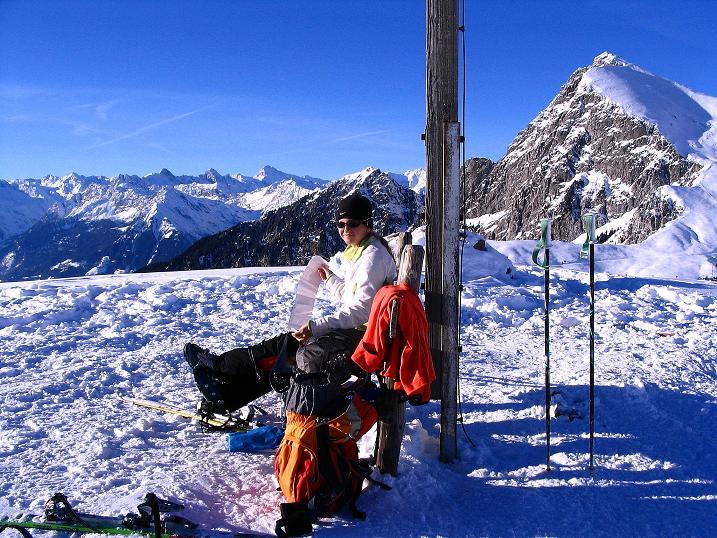 Foto: Andreas Koller / Ski Tour / Anfängertour auf den Spieler (2080m) / Großer Iffinger (2581 m) und Texelgruppe vom Spieler / 15.12.2008 02:16:40