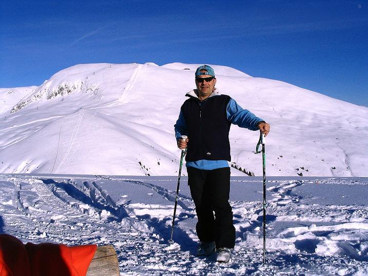 Foto: Andreas Koller / Ski Tour / Anfängertour auf den Spieler (2080m) / Der Große Mittager (2422 m) vom Spieler / 15.12.2008 02:16:04