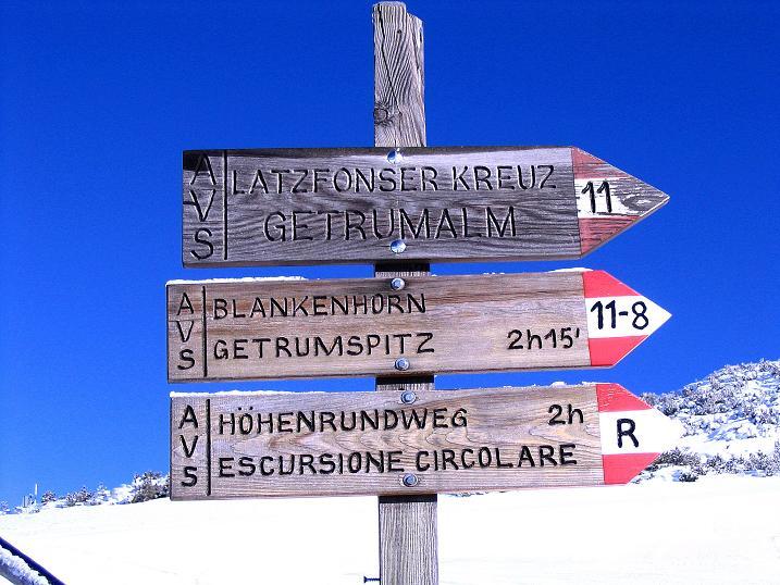 Foto: Andreas Koller / Ski Tour / Von Reinswald auf die Getrumspitze (2589m) / Klare Routenvorgabe / 15.12.2008 03:03:25