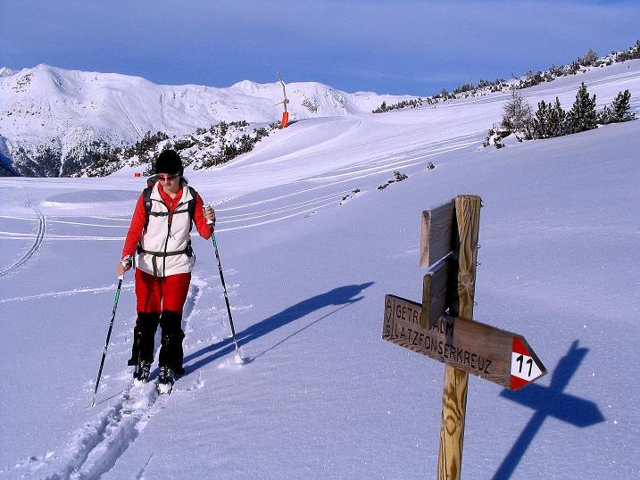 Foto: Andreas Koller / Ski Tour / Von Reinswald auf die Getrumspitze (2589m) / Im Aufstieg zur Sättlespitze / 15.12.2008 03:02:25