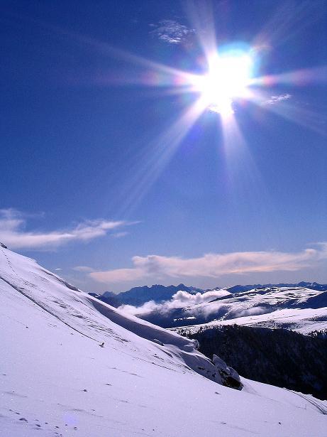 Foto: Andreas Koller / Ski Tour / Von Reinswald auf die Getrumspitze (2589m) / Blick nach S  / 15.12.2008 02:59:06