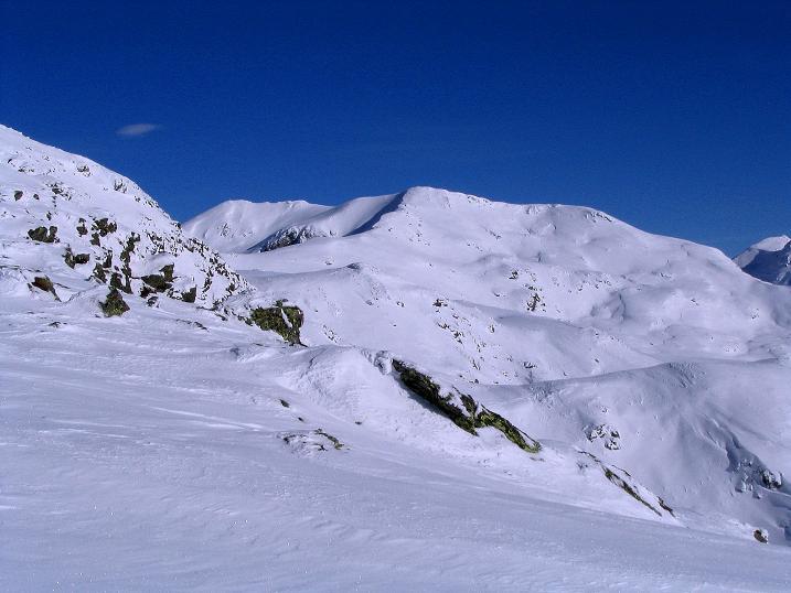 Foto: Andreas Koller / Ski Tour / Von Reinswald auf die Getrumspitze (2589m) / Blick auf Blankenhorn und Getrumspitze / 15.12.2008 02:58:15