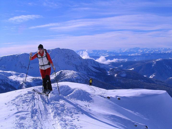 Foto: Andreas Koller / Ski Tour / Von Reinswald auf die Getrumspitze (2589m) / Am Grat zur Sättlespitze / 15.12.2008 02:57:00