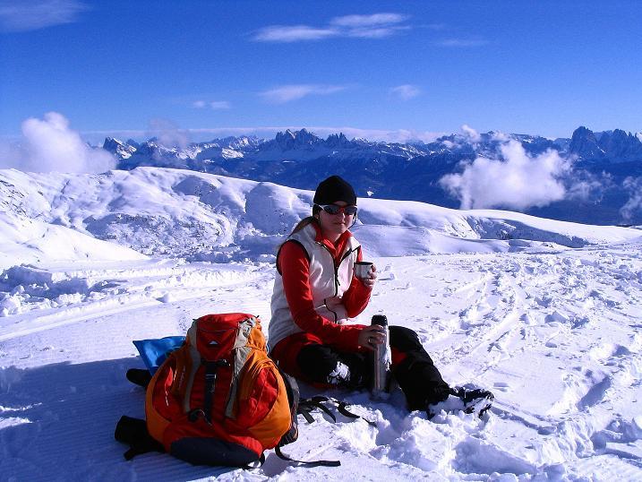 Foto: Andreas Koller / Ski Tour / Von Reinswald auf die Getrumspitze (2589m) / Dolomitenblick von der Sättlespitze / 15.12.2008 02:55:48