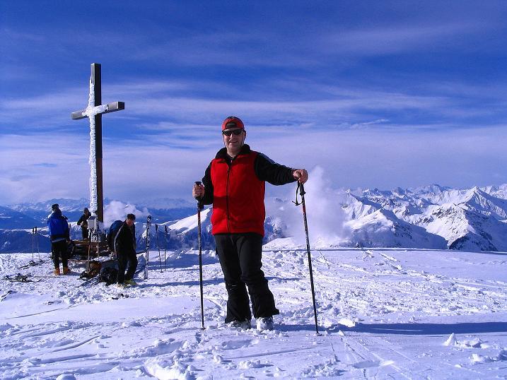 Foto: Andreas Koller / Ski Tour / Von Reinswald auf die Getrumspitze (2589m) / Breiter Gipfel auf der Sättlespitze / 15.12.2008 02:55:27