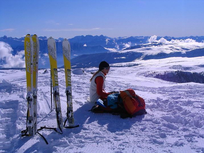 Foto: Andreas Koller / Ski Tour / Von Reinswald auf die Getrumspitze (2589m) / Von der Sättlespitze Blick nach S / 15.12.2008 02:54:23